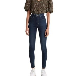 Levi's 721 High Rise Skinny Jeans in Dark Wash